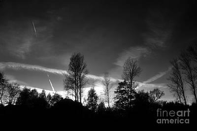 Black Sky Art Print by Dariusz Gudowicz