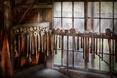 Tool Maker Photograph - Black Smith - Draw Plates And Hammers  by Mike Savad