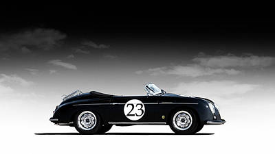 Sportscars Digital Art - Black Speedster by Douglas Pittman