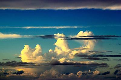 Clouds Photograph - Black Stripes  by Kimberly Reeves