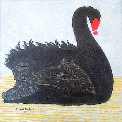 Painting - Black Swan Lake by Richard W Linford
