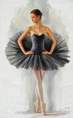 Black Swan Art Print by Serguei Zlenko