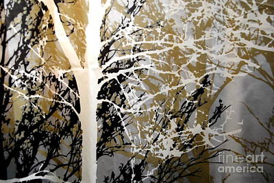Photograph - Forest Abstract - Black Tan Cream 1 Of 10 by Jacqueline M Lewis