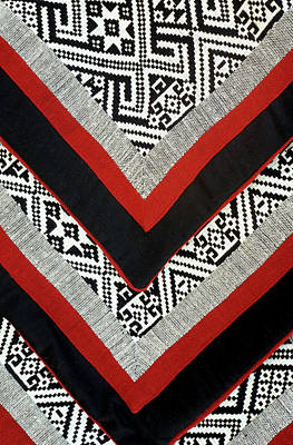 Photograph - Black Thai Fabric 01 by Rick Piper Photography