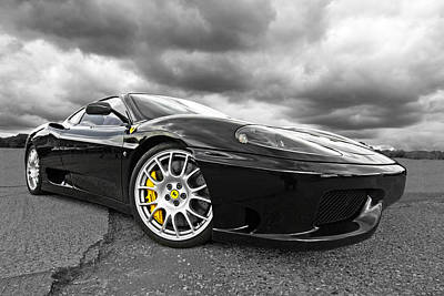 Photograph - Black Thunder Ferrari by Gill Billington