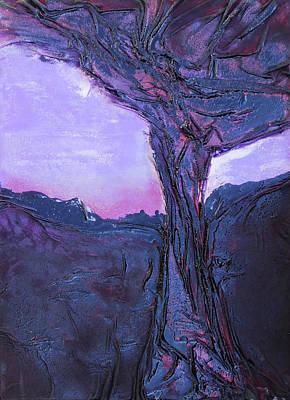Mixed Media - Black Tree by Angela Stout
