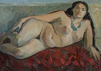 Painting - Black Tresses by Juliya Zhukova