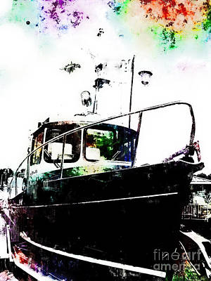 Photograph - Black Tug by Claire Bull