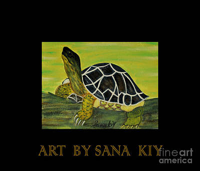 Painting - Black Turtle.inspirations Collection.  by Oksana Semenchenko