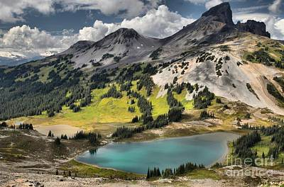 Photograph - Black Tusk Stratovolcano And Black Tusk Lake by Adam Jewell