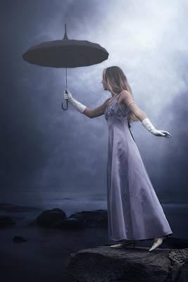 Evening Gown Photograph - Black Umbrella by Joana Kruse
