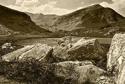 Photograph - Black Valley Killarney Ireland Sepia by Jane McIlroy