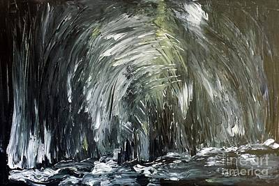 Painting - Black Water Cave by Crystal Schaan