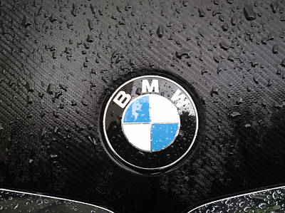 Car Mascot Digital Art - black - wet - BMW by Nafets Nuarb