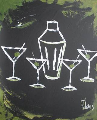 Painting - Black White And Olive by Lee Stockwell