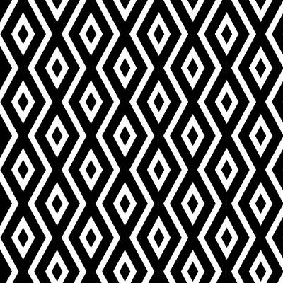 Geometric Mixed Media - Black And White Pattern by Christina Rollo