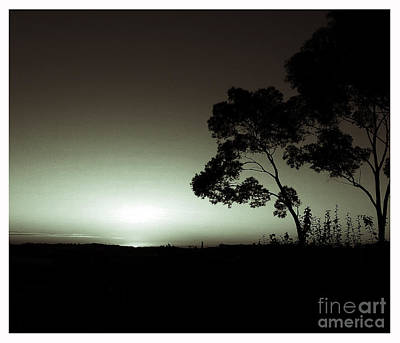 Photograph - Black White Sunset by Angela DeFrias