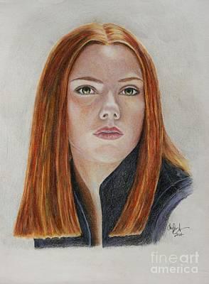 Black Widow Drawing - Black Widow by Christine Jepsen