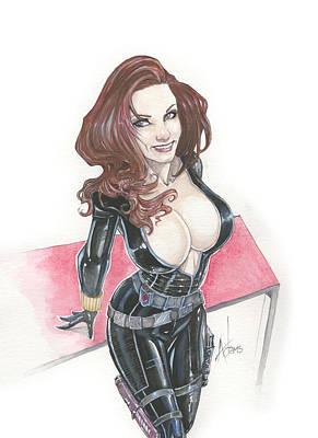 Black Widow Drawing - Black Widow by Jimmy Adams