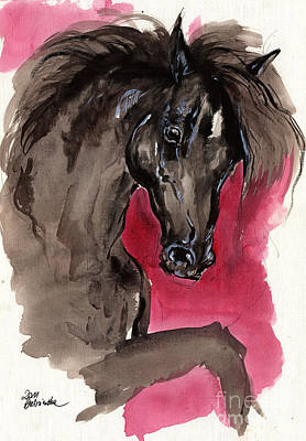 Black Wild Horse Original by Angel  Tarantella
