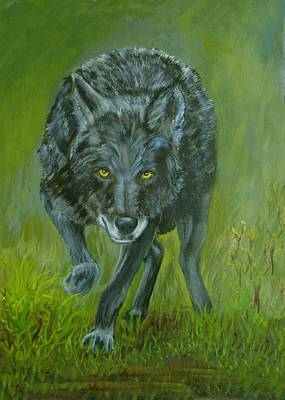 Painting - Black Wolf by Ruth Seal
