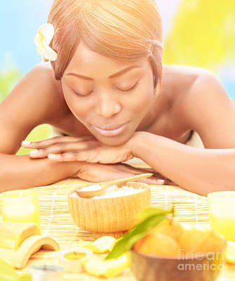 African Resort Photograph - Black Woman On Spa Resort by Anna Om