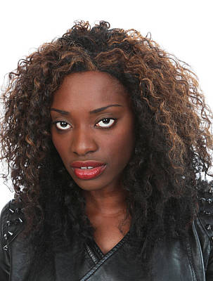 Photograph - Black Woman With Wild Hair by John Orsbun