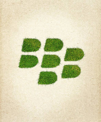 Blackberry Grass Logo Art Print by Aged Pixel