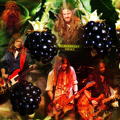 Rock Art Photograph - Blackberry Smoke Collage With Text by Ben Upham