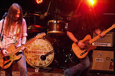 Photograph - Blackberry Smoke Rockin In Spokane 2013 by Ben Upham