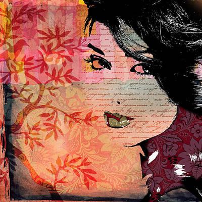 Sexy Digital Art - Blackbird by Ramneek Narang