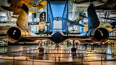 Air And Space Museum Photograph - Blackbird Rear View by Randy Scherkenbach