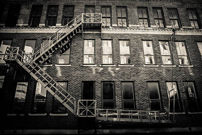 Photograph - Blackened Fire Escape by Melinda Ledsome