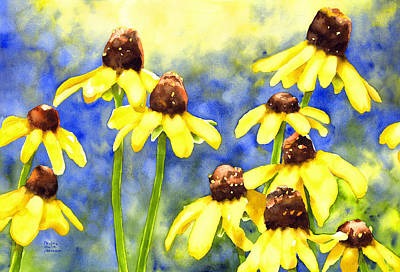 Painting - Blackeyed Beauties by Pauline Jacobson