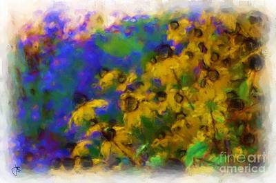 Painting - Blackeyed Susan 1043 20140929 by Julie Knapp