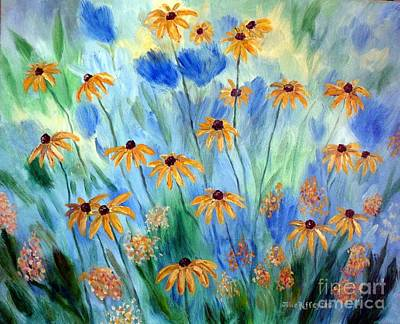 Painting - Blackeyed Susans by Julie Brugh Riffey