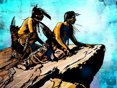 Painting - Blackfeet Scouts by Paul Sachtleben
