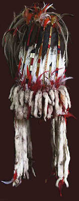 Cheyenne Headdress Mixed Media - Blackfoot Stand-up Headdress / Bonnet by Native Arts Trading