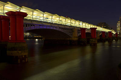 Abstract Skyline Rights Managed Images - Blackfriars Railway Bridge Royalty-Free Image by David French