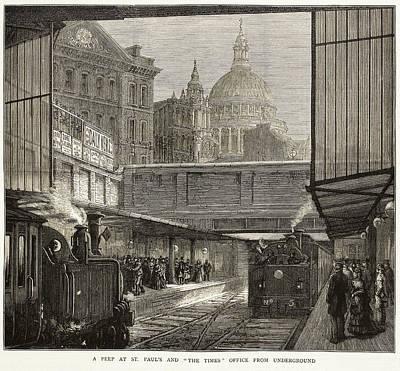 1875 Photograph - Blackfriars Underground Station by British Library