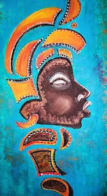 Blackgolden Queen Art Print