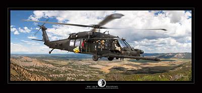 Blackhawk Helicopter Art Print by Larry McManus