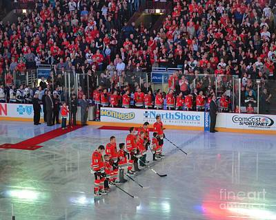 Photograph - Blackhawks Fight Cancer by Melissa Goodrich