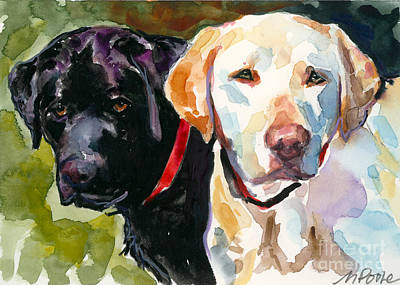 Yellow Labrador Retriever Painting - Blacklight by Molly Poole
