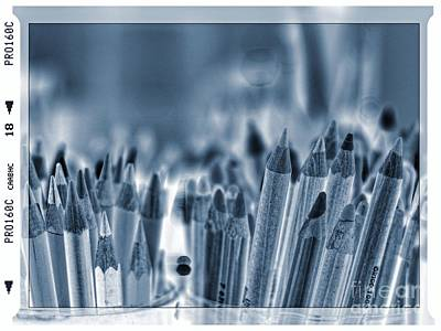Photograph - Blackout Pencils by Lance Sheridan-Peel