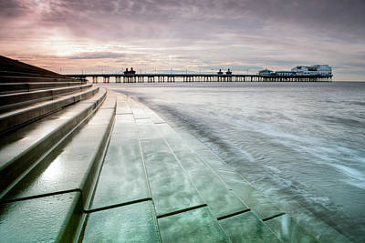 It Is As It Was Photograph - Blackpool North Pier Curve by Chris Frost