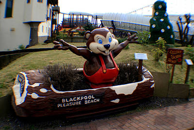Photograph - Blackpool Pleasure Beach Lancashire England by Doc Braham