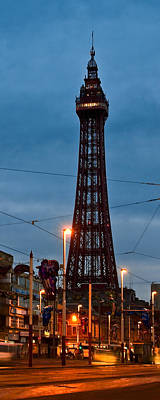 Photograph - Blackpool Tower At Night - Winter by Jane McIlroy