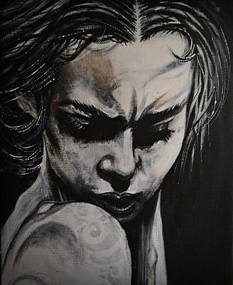 Painting - Blackportrait 22 by Sandro Ramani