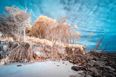 Blackrock Beach In Infrared Art Print